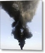 Oil Spill Burning, Usa Metal Print by U.s. Coast Guard