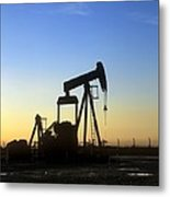 Oil Well Pump Metal Print