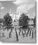 Oklahoma City National Memorial Black And White Metal Print