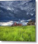 Old Abandonded Truck Near Empress Metal Print