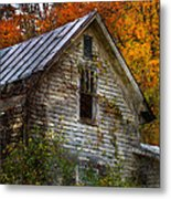 Old Abandoned House In Fall Metal Print