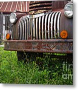 Old Abandoned Pickup Truck Metal Print