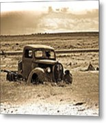 Old Abanoded Truck Fade Metal Print