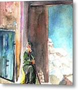Old And Lonely In Morocco 02 Metal Print
