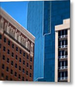 Old And New In Fort Worth Metal Print