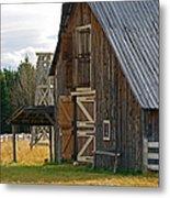 Old Barn Doors Metal Print