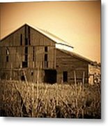 Old Barn In Indiana Metal Print