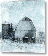 Old Barn In Winter Snow Metal Print