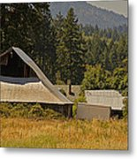 Old Barn On A Hot Summer Day In The Applegate Metal Print