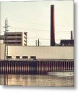 Old Bergstom Smokestack Metal Print
