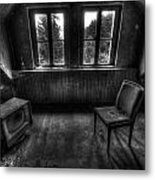 Old Black And White Tv Metal Print