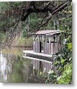 Old Boat House Metal Print