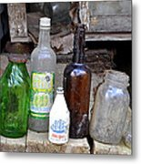 Old Bottle Metal Print
