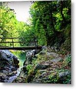 Old Bridge  In The Mountain Metal Print by Radoslav Nedelchev