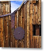 Old Building Bodie Ghost Town Metal Print by Garry Gay