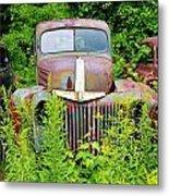 Old Car Grave Yard Metal Print