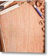 Old Carpentry Tools Metal Print