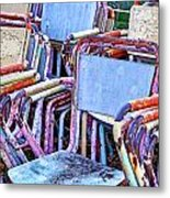 Old Chairs Metal Print