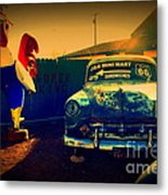 Old Chevrolet On Route 66 Metal Print