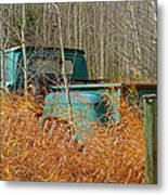 Old Chevy In The Field Metal Print