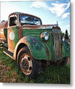 Old Chevy Tanker Truck Metal Print