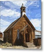 Old Church At Bodie Metal Print