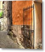 Old Colorful Rustic Alley Metal Print