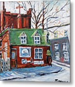 Old Corner Store Montreal By Prankearts Metal Print