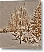 Old Country Christmas Metal Print