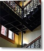 Old Courthouse Stairway Metal Print
