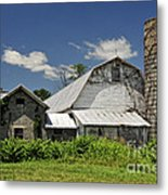 Old Dairy Barn 2 Metal Print