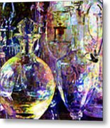 Old Decanters Metal Print