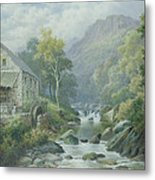 Old Disused Mill Dolgelly Metal Print