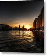 Old Docks Sunset. Metal Print