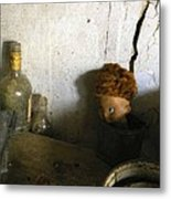 Old Doll In The Attic Metal Print