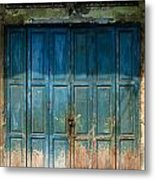 old door in China town Metal Print