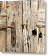 Old Door In Sebastia Metal Print