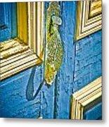 Old Door New Paint Metal Print
