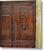 Old Door Study Provence France Metal Print
