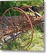 Old Farm Machine 3 Metal Print