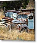 Old Farm Trucks Metal Print