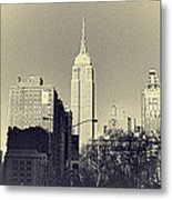 Old-fashioned Empire State Building Metal Print