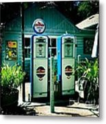 Old Fashioned Gas Station Metal Print