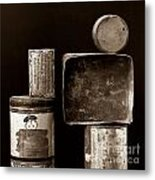Old Fashioned Iron Boxes. Metal Print by Bernard Jaubert