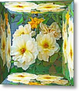 Old Fashioned Yellow Rose - Mirror Box Metal Print