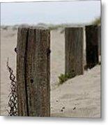 Old Fence Poles Metal Print