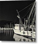 Old Fishing Boat At Texas Gulf Coast Metal Print