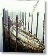 Old Fishing Boat No Longer In Use At Metal Print