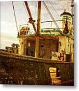 Old Fishing Trawler Metal Print