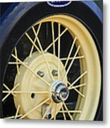 Old Ford Wheel Metal Print